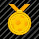 award, cartoon, competition, football, medal, sign, success