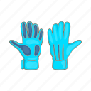 cartoon, catch, football, gloves, goalkeeper, rubber, sign icon