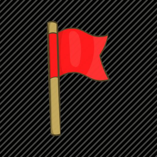 cartoon, flag, football, sign, specify, sport, violation icon