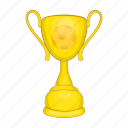 award, cartoon, competition, cup, football, sign, success icon