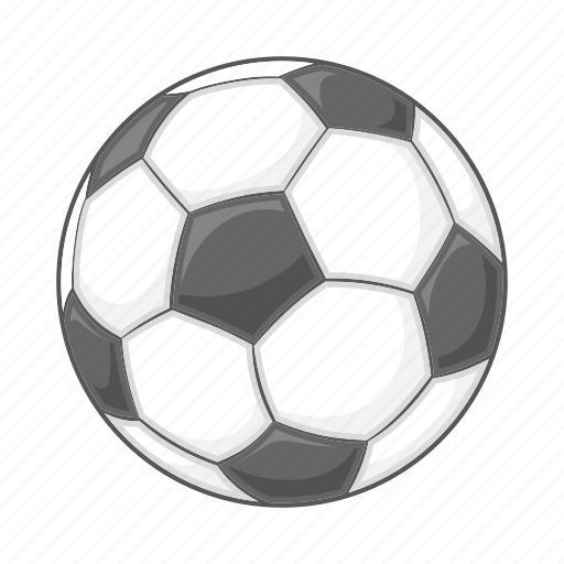 ball, cartoon, football, sign, soccer, sport, white icon