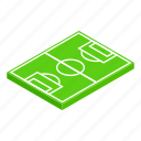 competition, diagram, field, football, isometric, play, sport icon