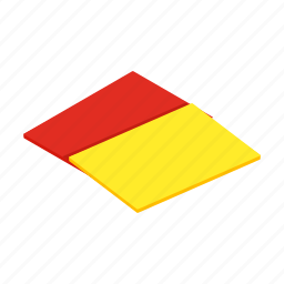 card, football, isometric, penalty, referee, soccer, sport icon