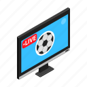 football, isometric, match, soccer, sport, television, tv