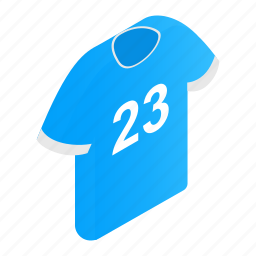 cloth, football, isometric, number, player, soccer, sport icon
