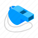 equipment, football, isometric, judge, referee, sport, whistle icon