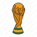 award, cup, football, winner, world icon