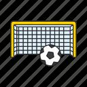 ball, football, gate, goal, score icon