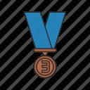 award, bronze, bronze medal, football, reward icon