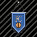attribute, flag, football, sport icon