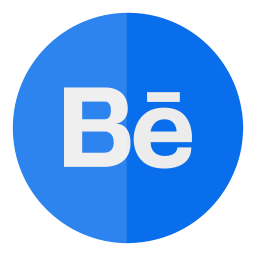 behance, circle, media, social icon