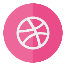 circle, dribbble, media, social icon
