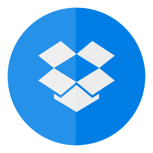 circle, cloud, dropbox icon