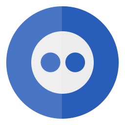 circle, flickr, media, social icon