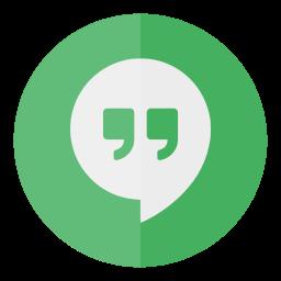 circle, hangouts, media, social icon