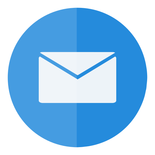 circle, e-mail, email, letter, mail, message, send icon