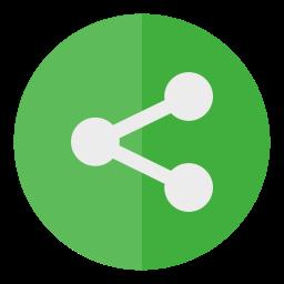 circle, media, share, social icon