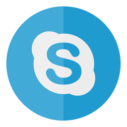 circle, media, skype, social icon