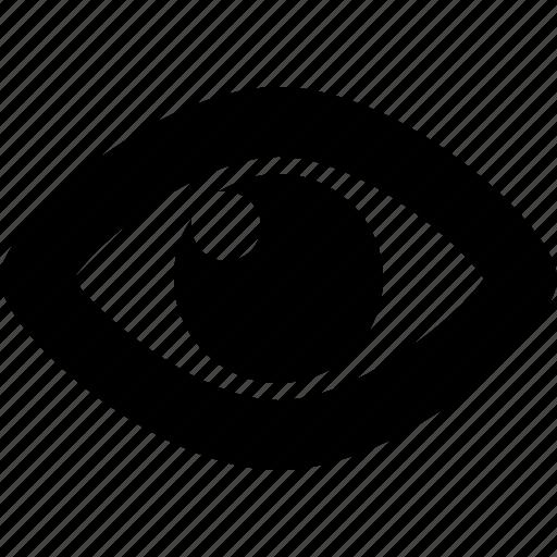 eye, eyeball, preview, social, views, visible icon