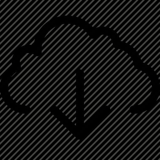 arrow, cloud, data, down, download, guardar, save, storage icon