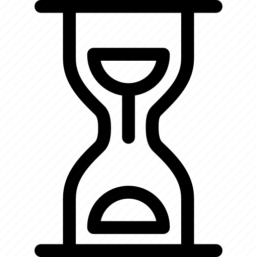 clock, hourglass, loading, sand, time, timer icon