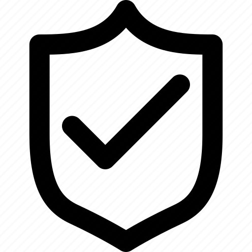 check, protection, safety, secure, security, shield icon
