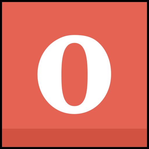 o, opera icon icon