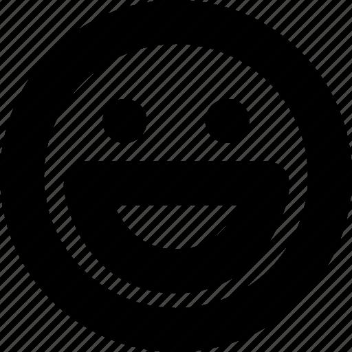 emoticon, face, grin, happy, smile, social, very icon