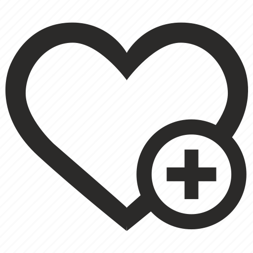 add, heart, like, love, social, web icon