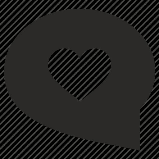 bubble, comment, dialog, like, love, message, romantic icon