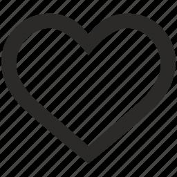 heart, like, love, social, web icon