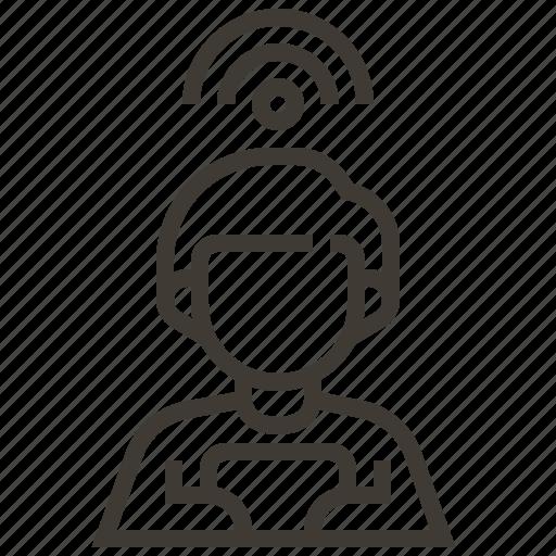 man, signal, wifi icon