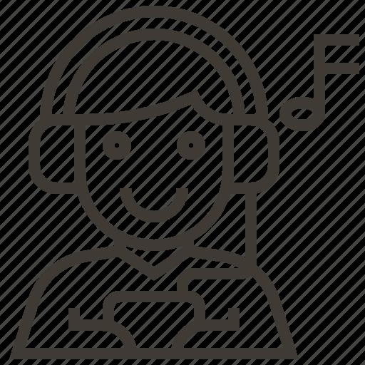 avatar, headphones, music, music note icon