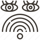 eyes, signal, watch, wifi icon