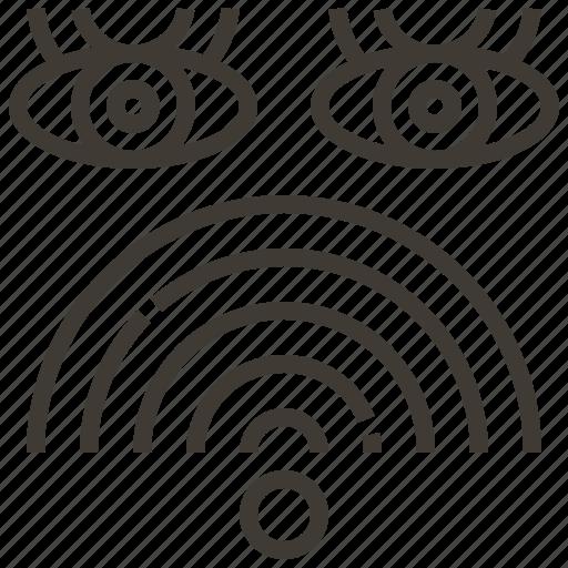 Eyes, wifi, watch, signal icon