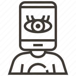 device, eye, tech head icon