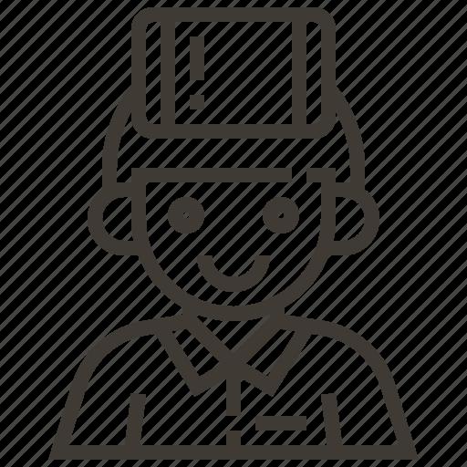 avatar, boy, device, man icon