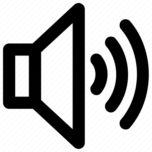 music, sound, sounds, speaker, volume icon icon