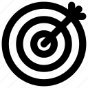 bullseye, business success, goal, marketing, target icon