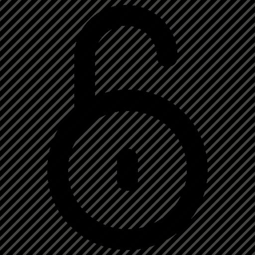 lock, secure, security, unlock, unlocked icon icon