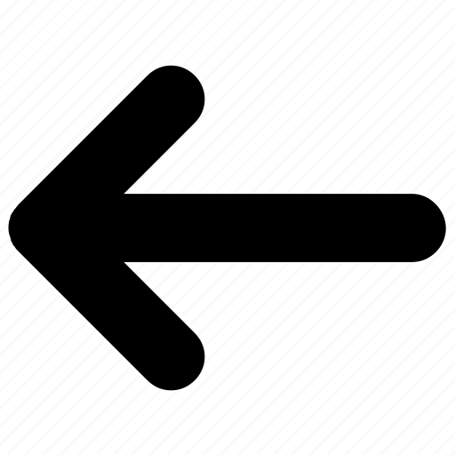 arrow, back, left, previous, west icon icon