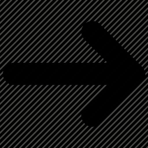 arrow, east, forward, green, next, right icon icon
