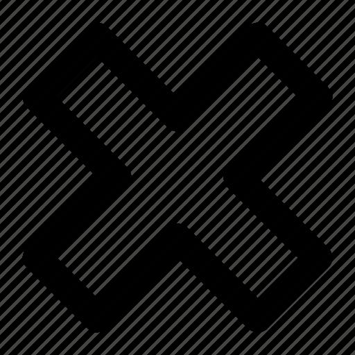 cancel, close, delete, dismiss, remove icon icon