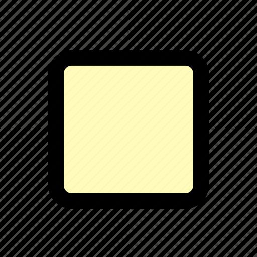 box, multimedia, player, square, stop icon