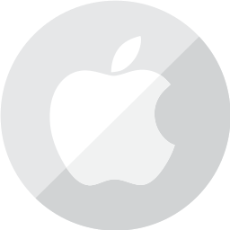 apple, communication, logo, mobile, silver, telephone icon