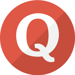 modern, question, quora, red, simple, social icon