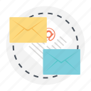 correspondence, email document, email marketing, email service, viral marketing icon
