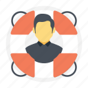 assistance, help, lifeguard, protection, public support icon