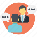 chatting, consultation, discussion, interview, live communication icon