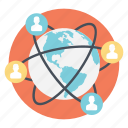 global network, social connection, social media, web communication, worldwide connectivity icon